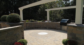 custom designed hardscapes