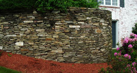 12 foot stone retaining wall
